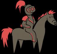 Czarno-czerwony Rycerz! (laski)