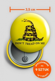Don't tread on me (yellow pin)