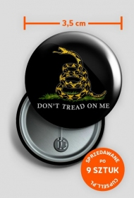 Don't tread on me (black pin)
