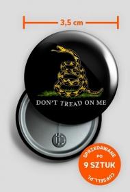Don't tread on me (black pin)