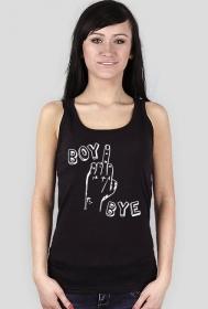 BOY BYE (koszulka damska na ramiączkach)