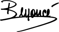 BEYONCE SIGNATURE (v-neck)