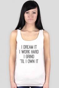 DREAM IT (koszulka damska na ramiączkach)