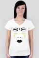 BEY SORRY FACE (koszulka damska v-neck)