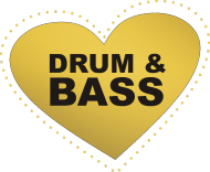 Torba I Love Drum and BASS czarna