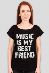 Koszulka damska Alle Farben Music is my BEST FRIEND