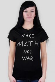 Koszulka czarna - MAKE MATH ♀