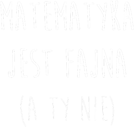 Bluza czarna - FAJNA MATEMATYKA
