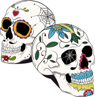 2 Skulls Bag
