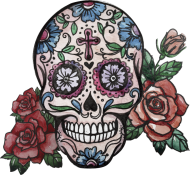 HandPainted Skull Woman