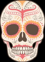 Orange Skull Mug