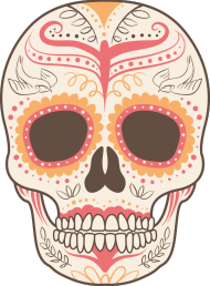 Orange Skull Bag