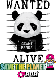 PANDA PLANETA WANTED. PADA