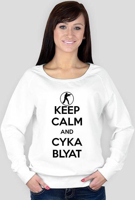 Keep Calm and Cyka Blyat Damska Bluza