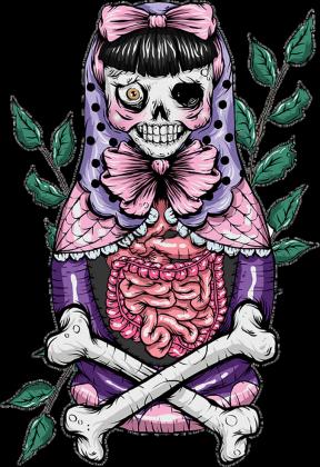 Zombie Matrioszka Bluza Damska