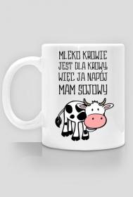 Krowa - mleko, napój sojowy