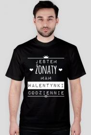 Walentynki żonatego - ciemny t-shirt