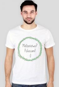 Polecam małżeństwo - męski t-shirt