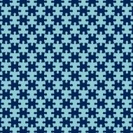 Maseczka z puzzlami - niebieska