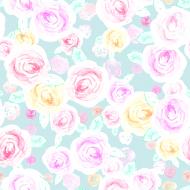Maseczka w malowane róże