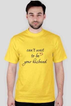 Can't wait - męski t-shirt