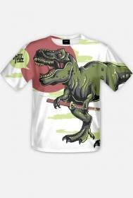 Fullprint - Samuraj T-rex - koszulka z pełnym nadrukiem