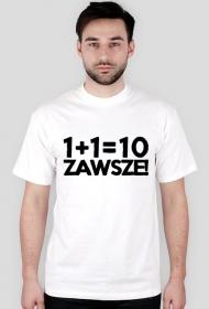 Koszulka 2 - 1+1=10 - dziwneumniedziala.com - koszulki dla informatyków