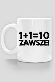 Kubek - 1+1=10 - dziwneumniedziala.com - koszulki dla informatyków