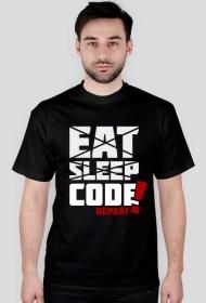 Koszulka - eat, sleep, code, repeat  - dziwneumniedziala.cupsell.pl - koszulki i kubki informatyczne