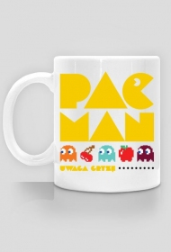 Pac Man - uwaga gryzę - Kubek - nietypowe i śmieszne kubki dla każdego