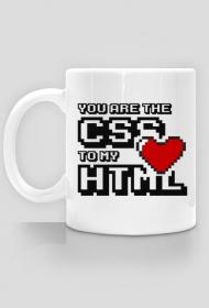 Kubek - You are the CSS to my HTML - dziwneumniedziala.cupsell.pl - koszulki dla informatyków