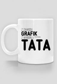 Kubek - Z zawodu grafik, z wyboru / przypadku - koszulki nietypowe, śmieszne - chcetomiec.cupsell.pl