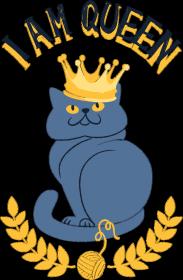 I am queen - koszulki z pełnym nadrukiem - chcetomiec.cupsell.pl, ubrania dla kobiet i mężczyzn