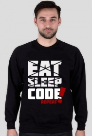 Bluza bez kaptura - Eat, sleep, code, repeat - dziwneumniedziala.com