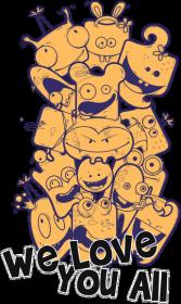 Monsters - We Love You All - Kubek - nietypowe i śmieszne kubki dla każdego