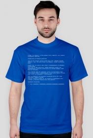 Koszulka - Przemęczenie użytkownika komputera - Blue Screen of Death -  - koszulki dla informatyków