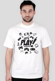 Koszulka - Let's play motherfucker  - koszulki informatyczne, koszulki dla programisty i informatyka - dziwneumniedziala.cupsell.pl