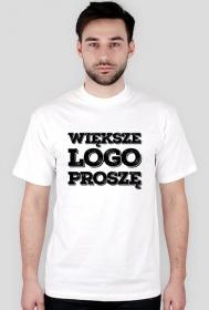 Koszulka - Wieksze LOGO proszę - koszulki informatyczne, koszulki dla programisty i informatyka - dziwneumniedziala.cupsell.pl