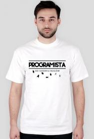 Koszulka - Programista od siedmiu bugów  - koszulki informatyczne, koszulki dla programisty i informatyka