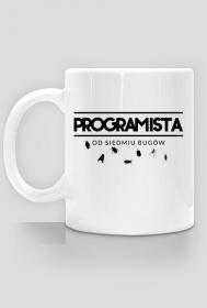 Kubek - Programista od siedmiu bugów  - koszulki informatyczne, koszulki dla programisty i informatyka