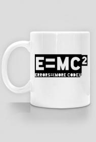 e=mc2 - errors = more code - Kubek - nietypowe i śmieszne kubki dla każdego