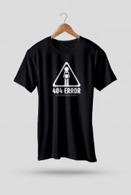 Koszulka - 404 error, girlfriend not found  - koszulki informatyczne, koszulki dla programisty i informatyka - dziwneumniedziala.cupsell.pl