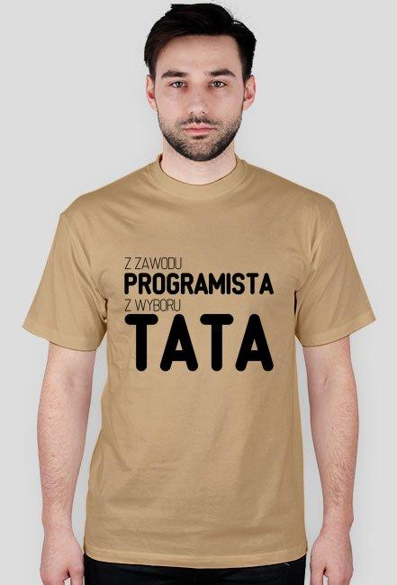 Koszulka - z zawodu programista, z wyboru tata - dziwneumniedziala.com - koszulki dla informatyków