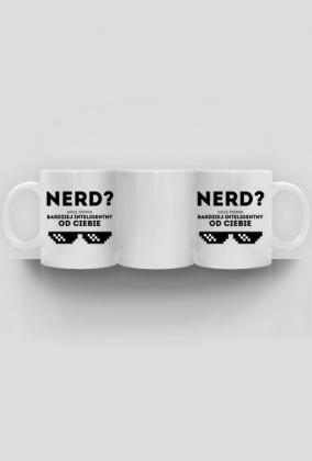 Kubek podwójny - NERD - wolę termin: bardziej inteligentny od Ciebie - dziwneumniedziala.com - koszulki dla informatyków