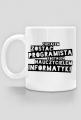 Kubek - Chciałem zostać programistą, zostałem nauczycielem informatyki  - koszulki informatyczne, koszulki dla programisty i informatyka - dziwneumniedziala.cupsell.pl