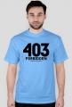 Koszulka 2 - 403 forbidden, dziewczyna / żona zabrania  - koszulki informatyczne, koszulki dla programisty i informatyka - dziwneumniedziala.cupsell.pl