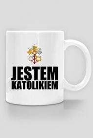 KUBEK CZERWONE LOGO - CZARNY NAPIS