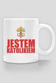 KUBEK CZERWONE LOGO - CZERWONY NAPIS