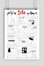 Kalendarz 2016 z rysunkami Krysztopy
