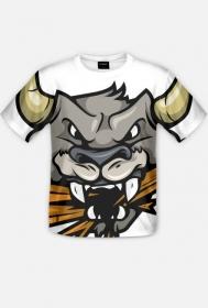 Koszulka fullprint Wściekły byk